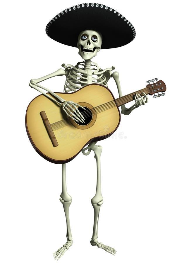 esqueleto dos desenhos animados 3d ilustração do vetor