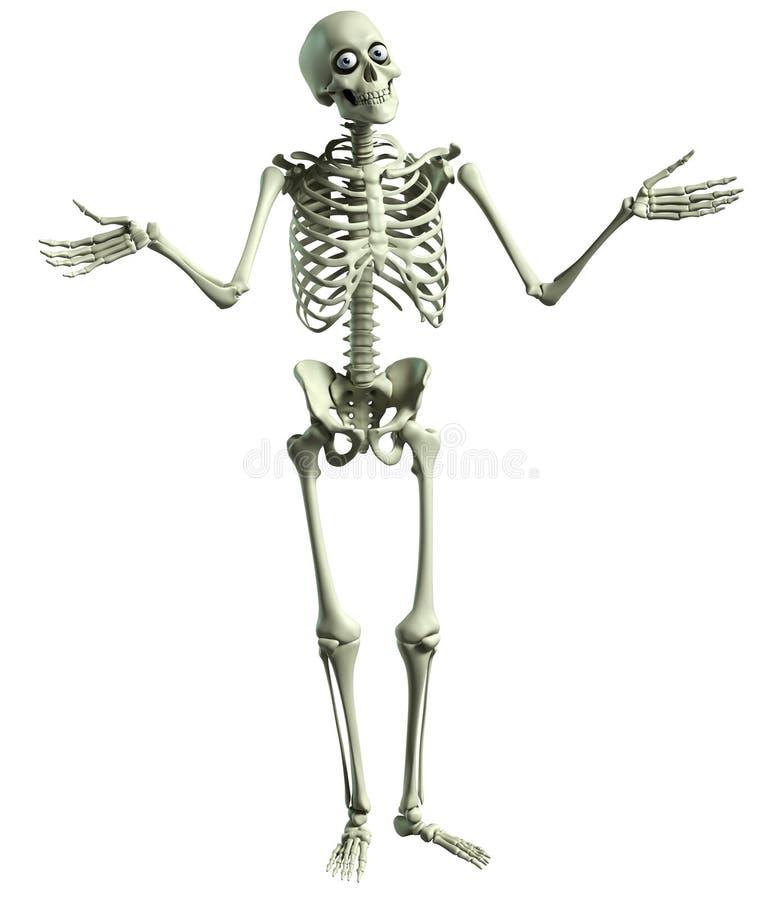 esqueleto dos desenhos animados 3d ilustração stock