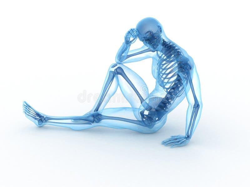 Esqueleto masculino de assento ilustração royalty free