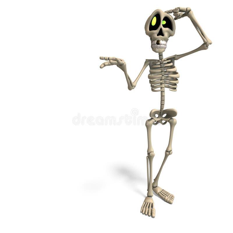 Esqueleto muito engraçado dos desenhos animados ilustração royalty free