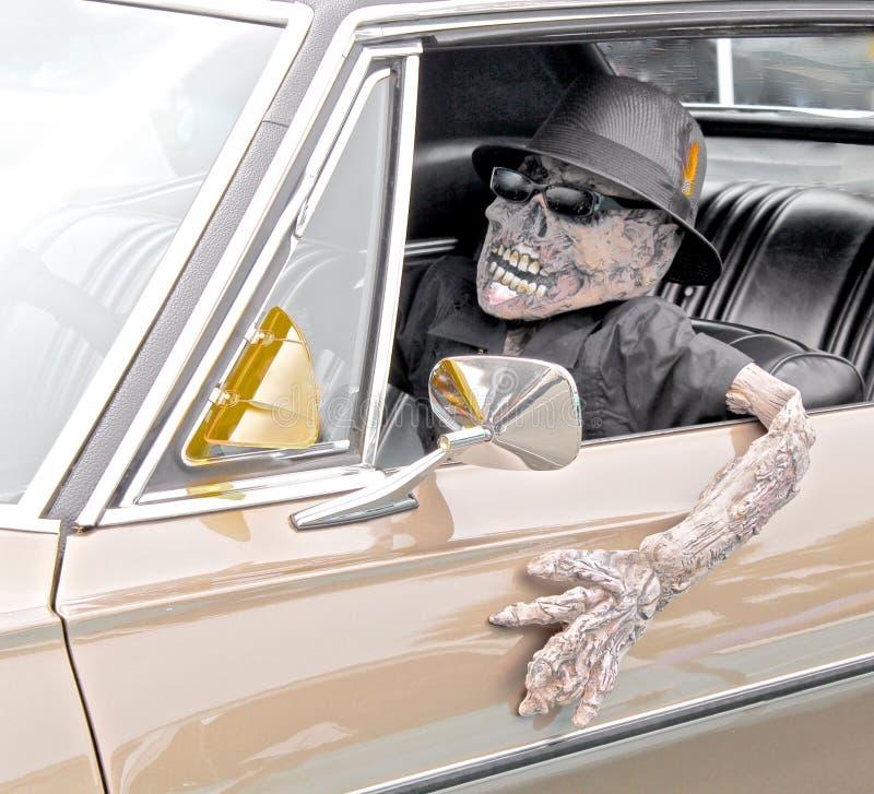 Esqueleto no carro imagens de stock royalty free