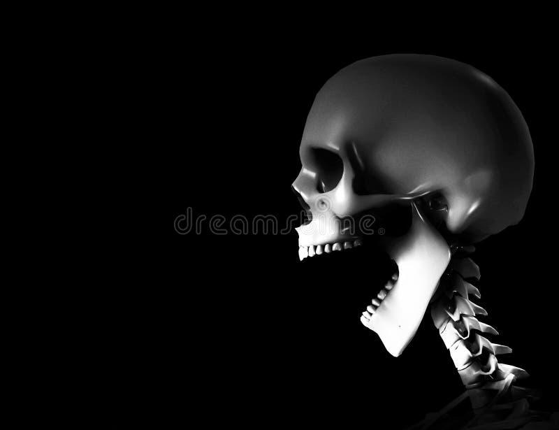 Esqueleto Shouting ilustração do vetor