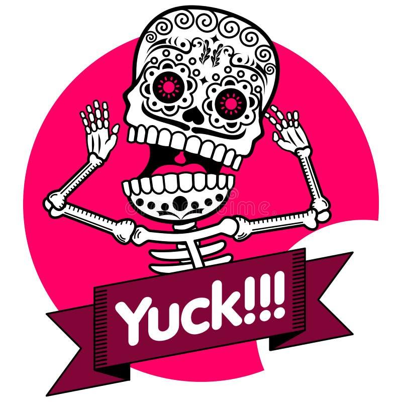 esqueletos Camiseta yuck ilustración del vector