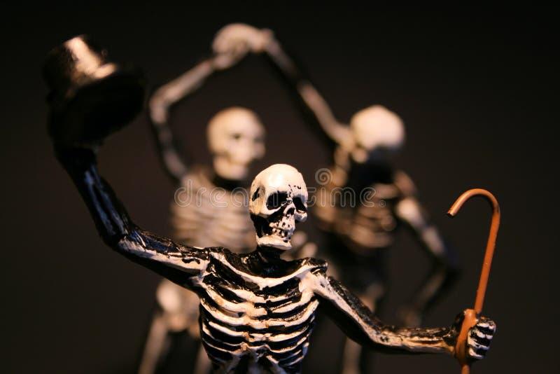 Esqueletos de Halloween fotos de stock