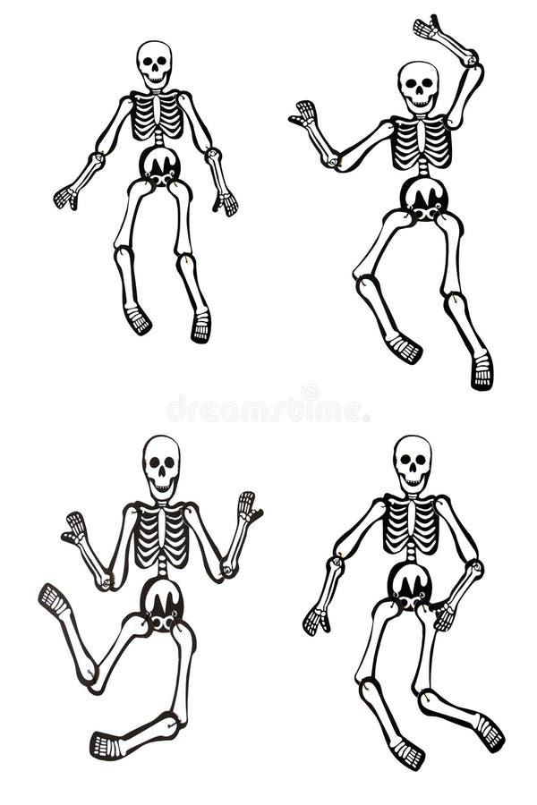 Esqueletos de Halloween imagem de stock royalty free