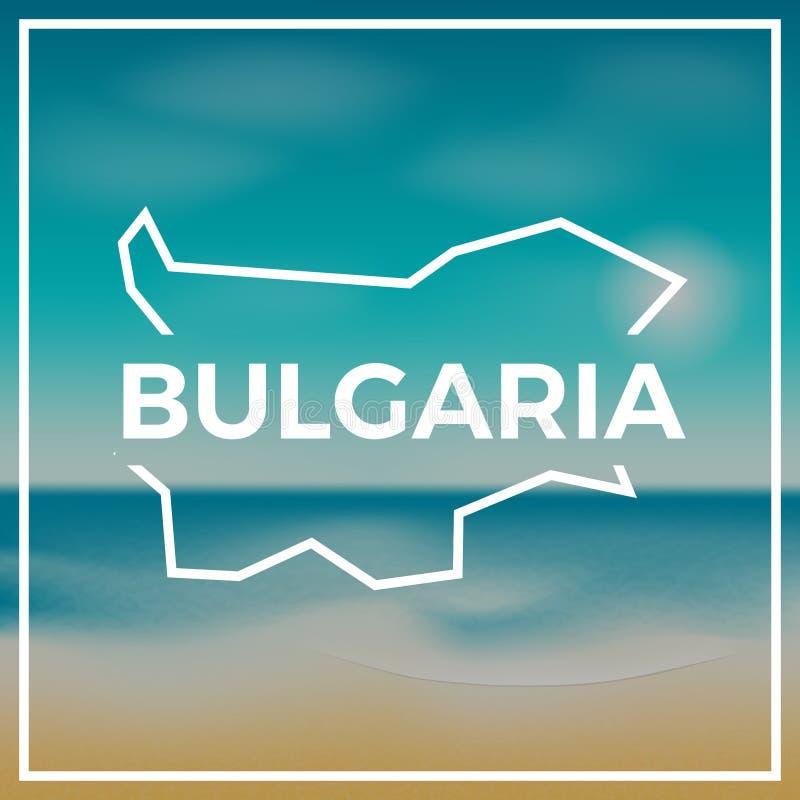 Esquema áspero del mapa de Bulgaria contra el contexto stock de ilustración