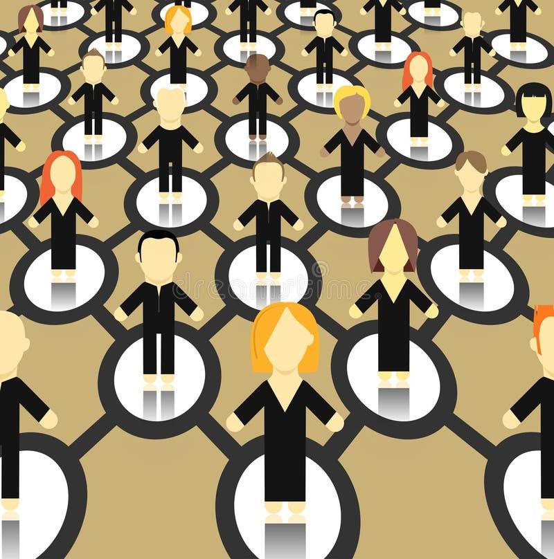 Esquema abstracto del World Wide Web ilustración del vector
