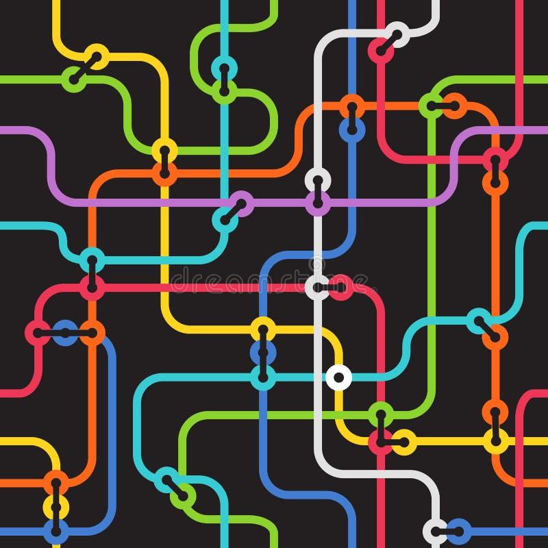 Esquema abstrato do metro ilustração do vetor