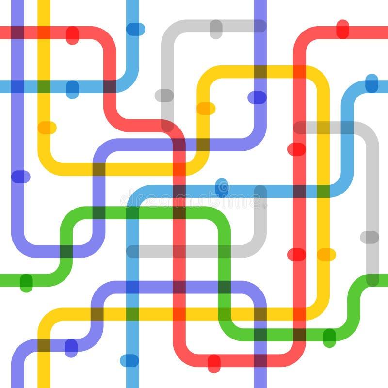 Esquema abstrato do metro da cor ilustração do vetor
