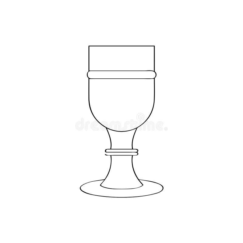 Esquema aislado de la cáliz libre illustration