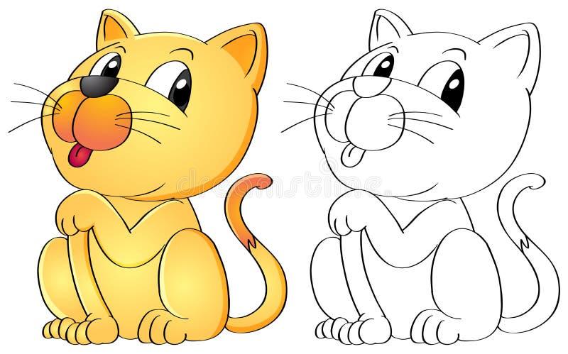 Esquema animal para el gato ilustración del vector