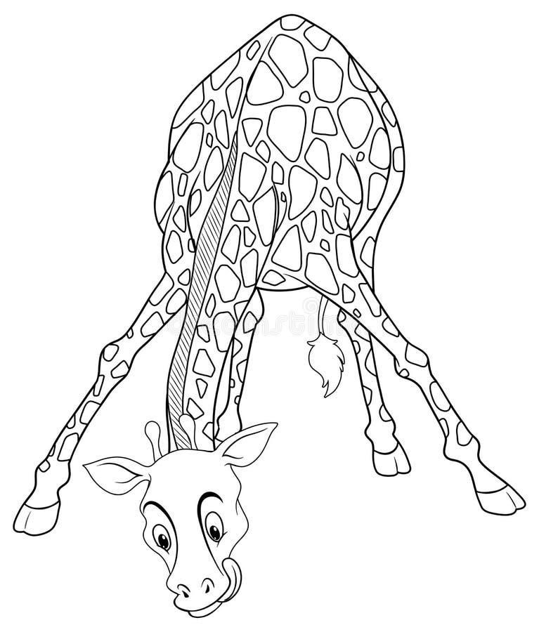 Esquema animal para la consumición de la jirafa stock de ilustración