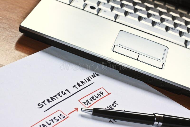 Esquema conceptual para uma estratégia empresarial fotografia de stock royalty free