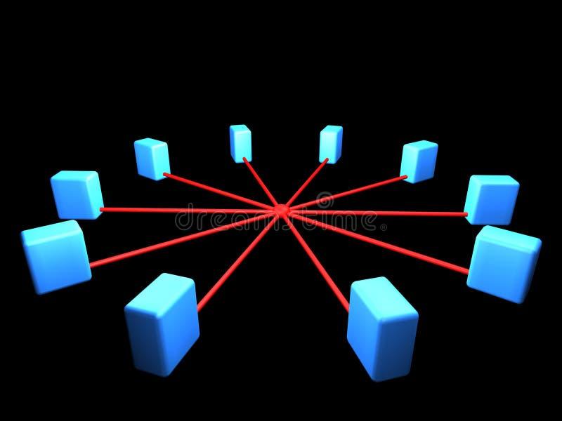 Esquema da topologia de rede ilustração stock
