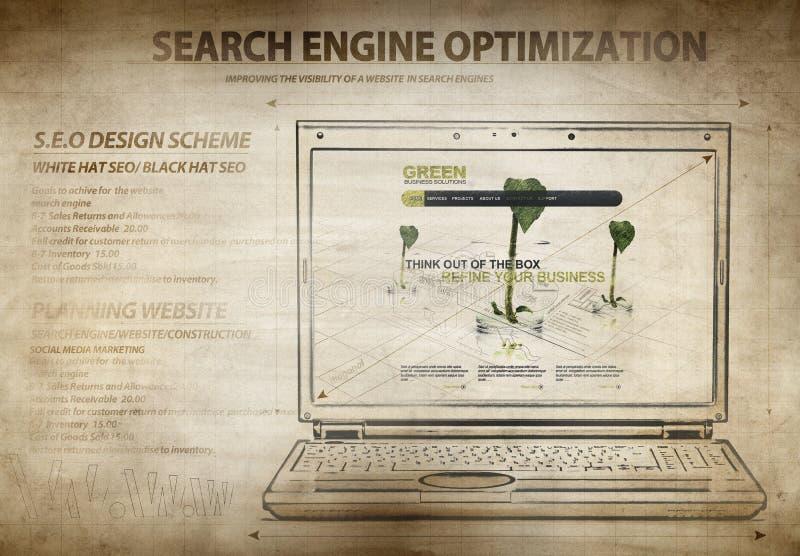 Esquema de la optimización del Search Engine fotos de archivo libres de regalías