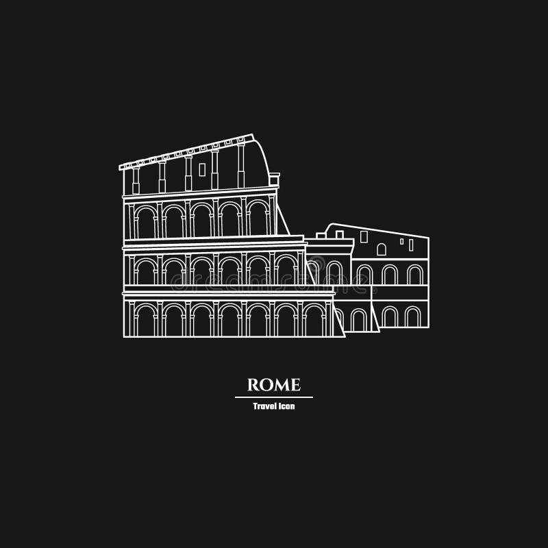 Esquema 1 de la señal de Roma ilustración del vector