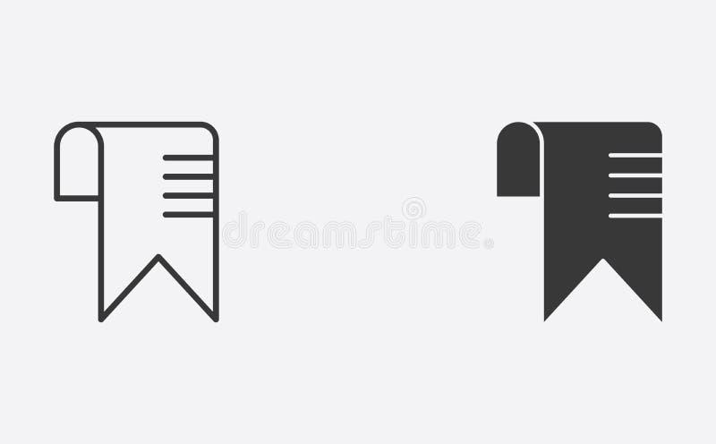 Esquema de la señal y símbolo llenado de la muestra del icono del vector libre illustration
