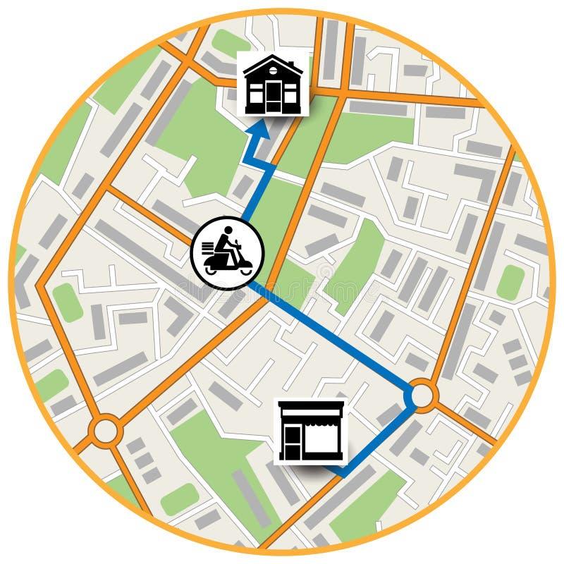 Esquema de la ubicación del mapa stock de ilustración