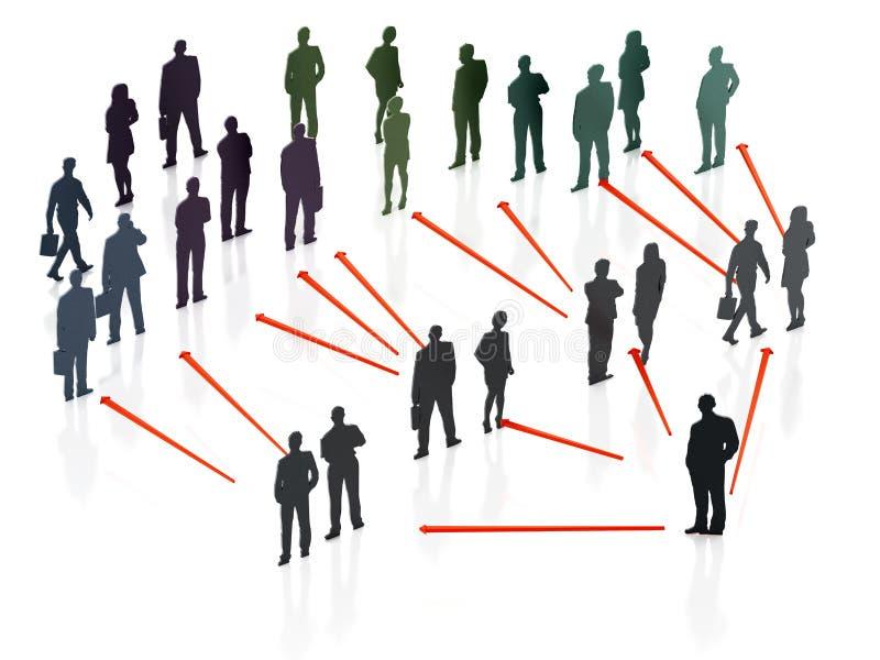 Esquema de organización de hombres de negocios ilustración 3D libre illustration