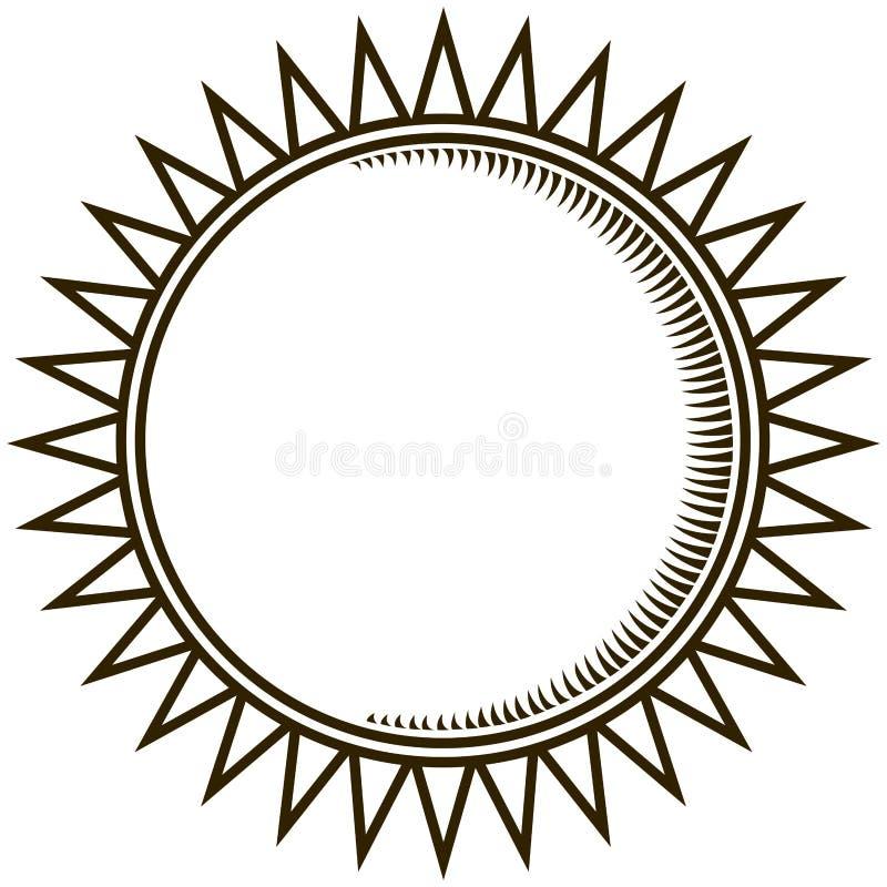 Esquema de un Sun ilustración del vector