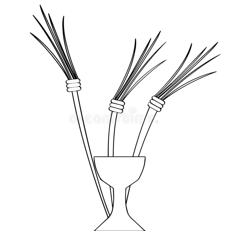 Esquema de una cáliz con ganar del maíz libre illustration