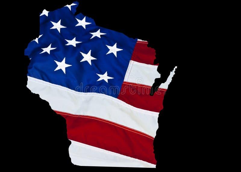 Esquema del estado de Wisconsin libre illustration