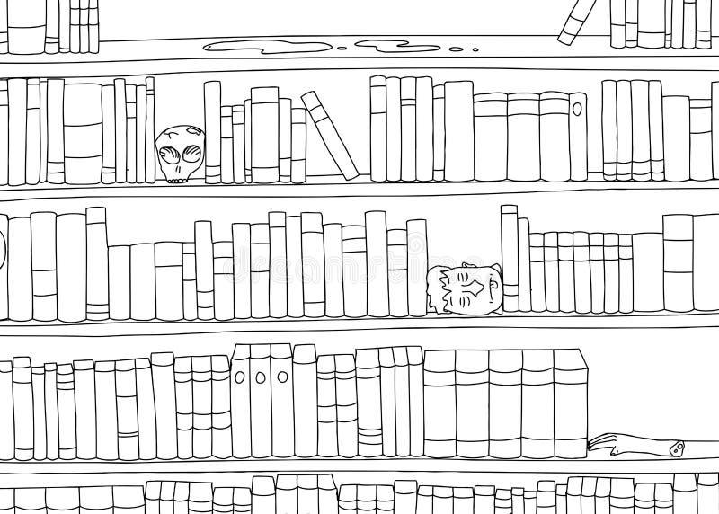 Esquema del estante extraño ilustración del vector
