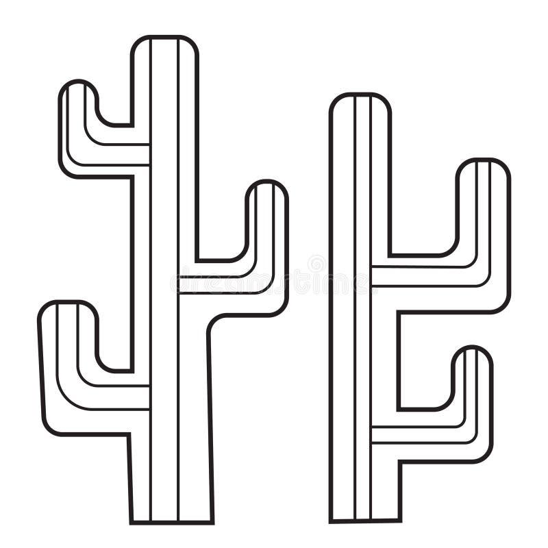 Esquema del icono de Caktus fotografía de archivo libre de regalías