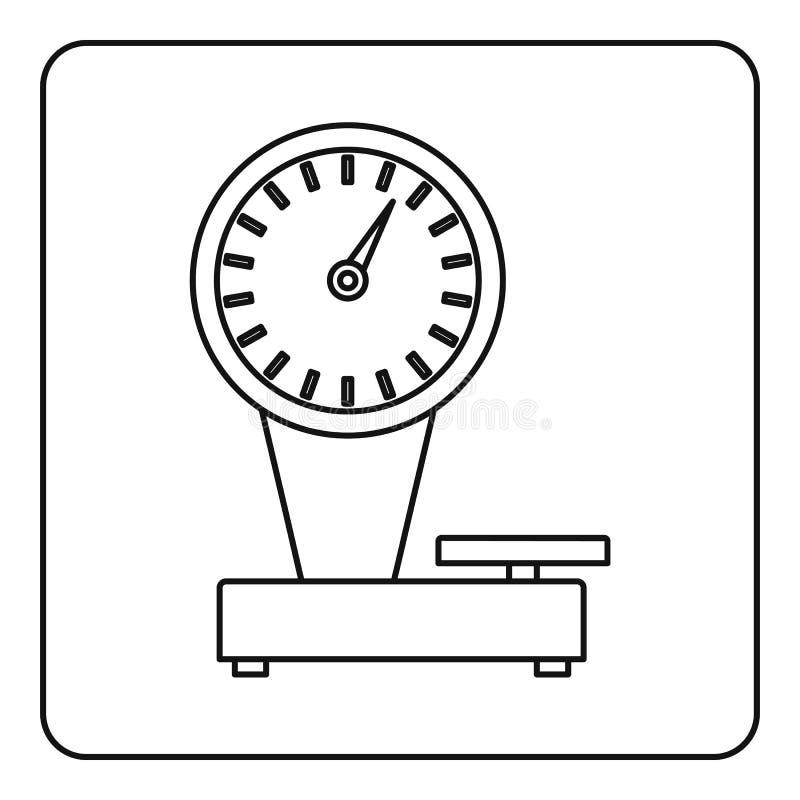 Esquema del icono de la escala del peso libre illustration
