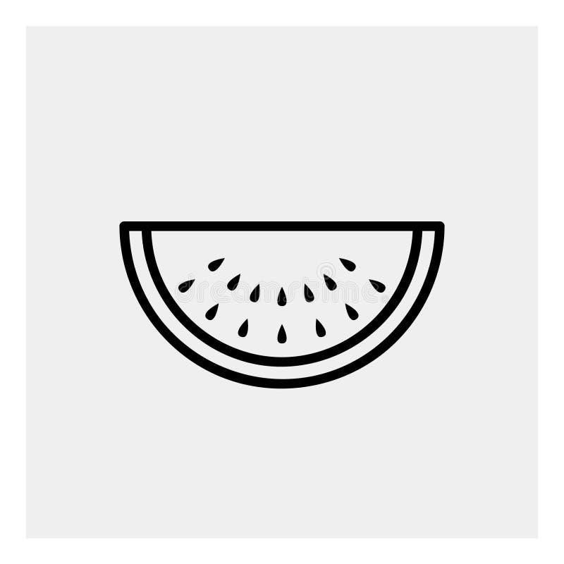 Esquema del icono de la sandía imagen de archivo libre de regalías
