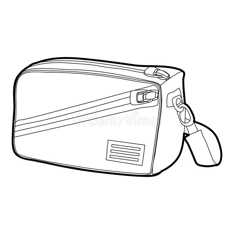 Esquema del icono del bolso de la cintura ilustración del vector