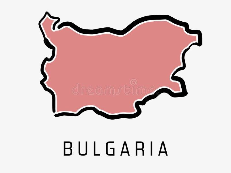 Esquema del mapa de Bulgaria stock de ilustración