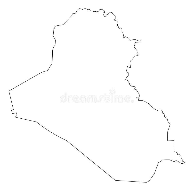 Esquema del mapa de Iraq fotos de archivo libres de regalías