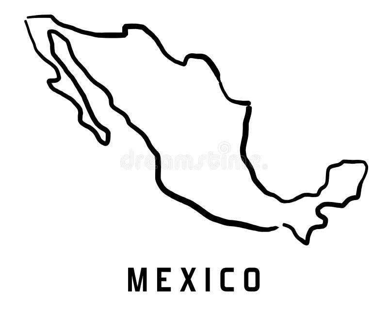 Esquema del mapa de México ilustración del vector