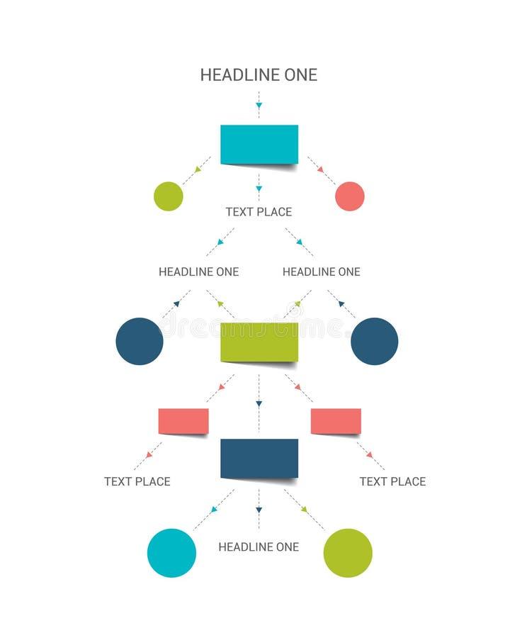 Esquema del organigrama ilustración del vector