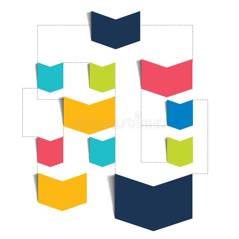 Esquema del organigrama Elementos de Infographics libre illustration