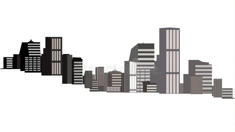 Esquema del paisaje urbano aislado en el fondo blanco libre illustration