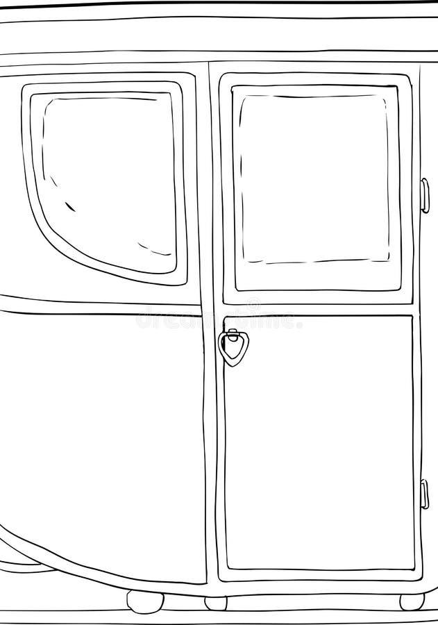 Esquema del siglo XVIII del detalle del carro stock de ilustración