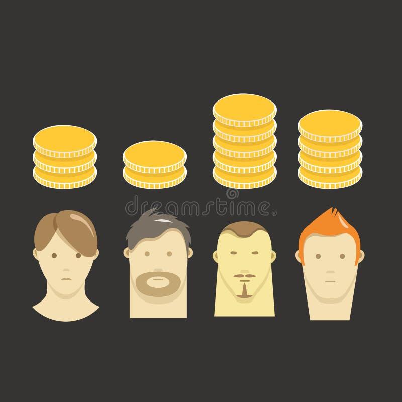Esquema del sueldo stock de ilustración