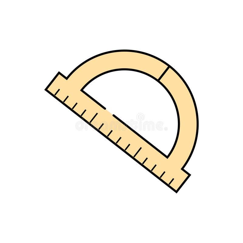 Esquema del terraplén del arco de la regla stock de ilustración