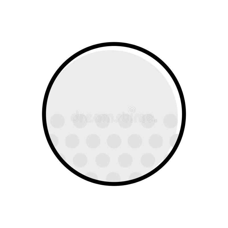 Esquema del terraplén de la pelota de golf libre illustration