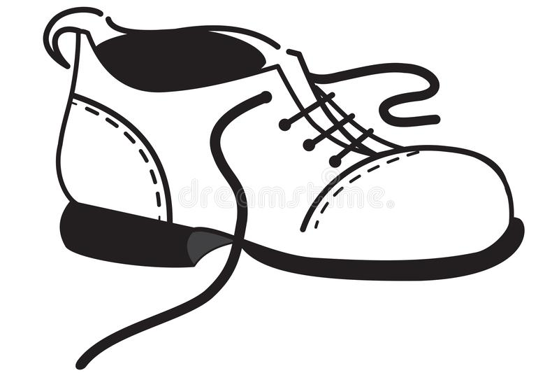 Esquema del un zapato ilustración del vector