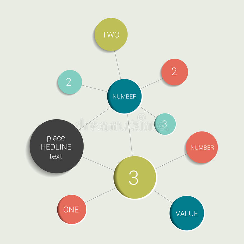 Esquema do fluxograma do círculo Elemento da carta de Infographics ilustração stock