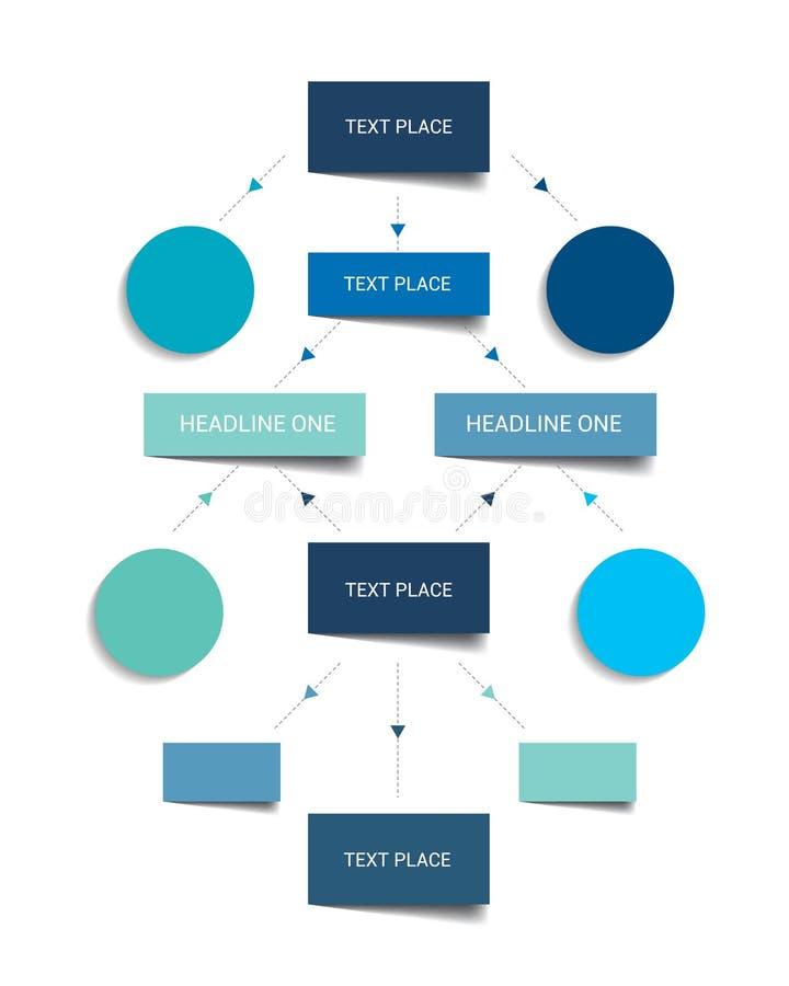 Esquema do fluxograma Elementos de Infographics ilustração do vetor