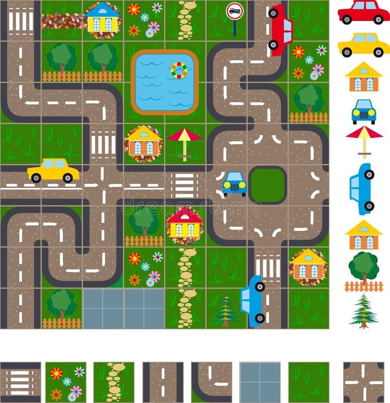 Esquema do mapa das ruas ilustração royalty free
