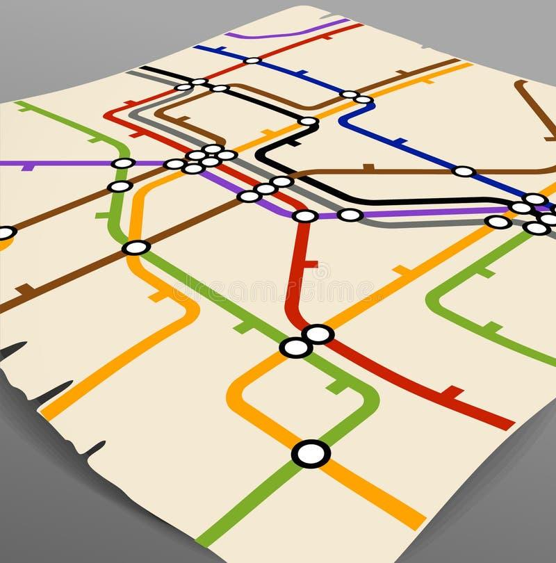 Esquema do metro ilustração stock