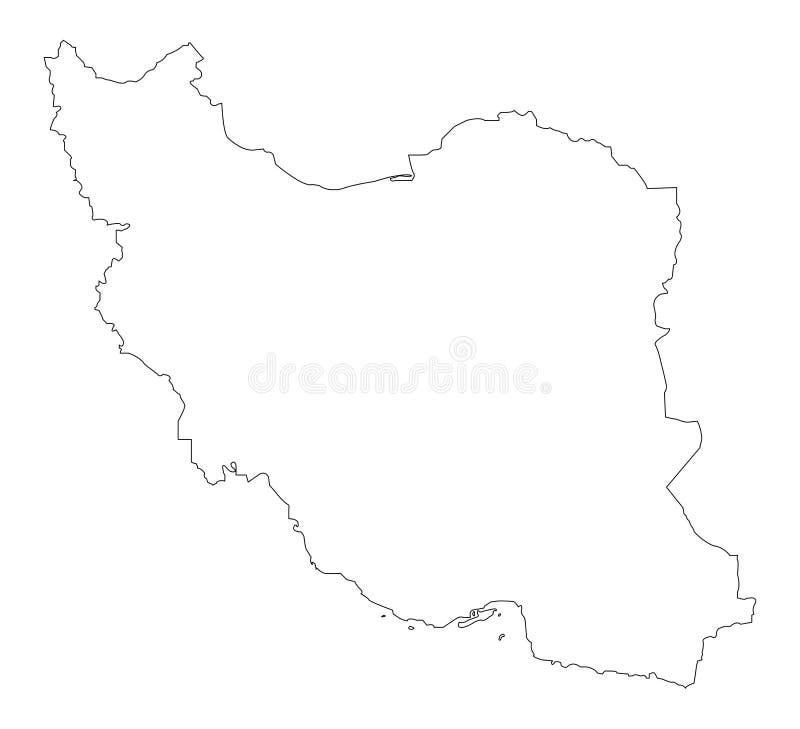 Esquema Irán del mapa fotografía de archivo libre de regalías