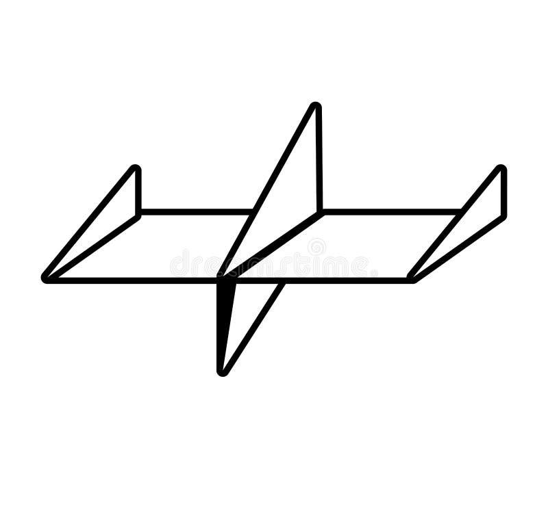 esquema libre de la diversión del aire plano de papel ilustración del vector