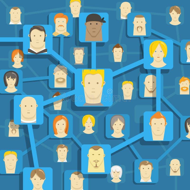 Esquema moderno de uma comunicação dos povos ilustração do vetor