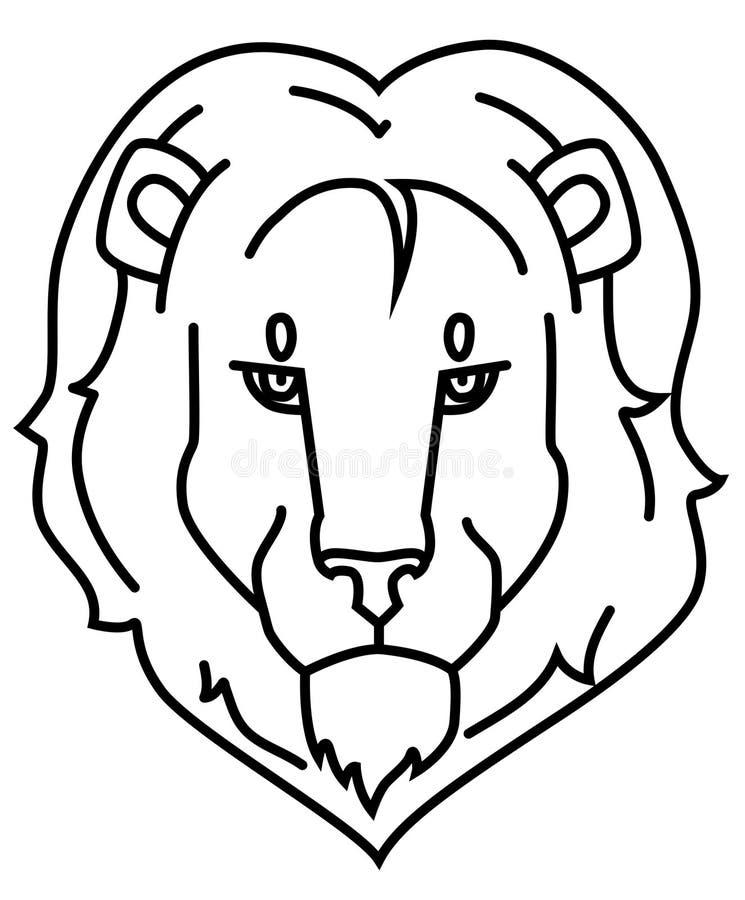 Esquema negro del logotipo del león imágenes de archivo libres de regalías
